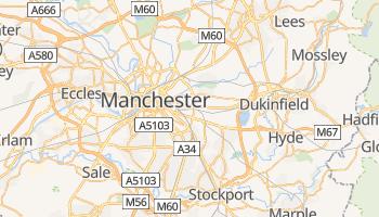 Manchester - szczegółowa mapa Google
