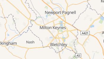 Milton Keynes - szczegółowa mapa Google