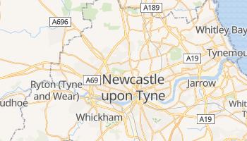 Newcastle upon Tyne - szczegółowa mapa Google