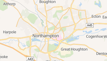 Northampton - szczegółowa mapa Google