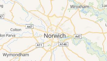 Norwich - szczegółowa mapa Google