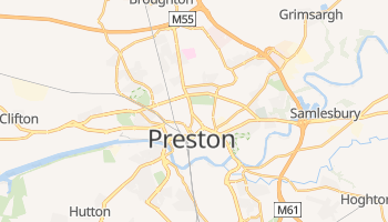 Preston - szczegółowa mapa Google