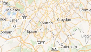 Sutton - szczegółowa mapa Google