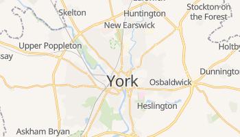 York - szczegółowa mapa Google