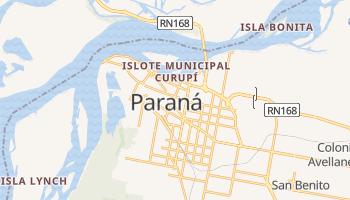 Mapa online de Paraná para viajantes