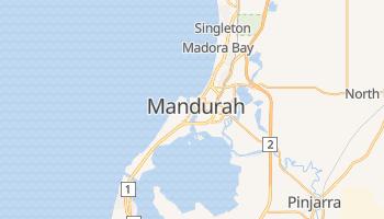 Mapa online de Mandurah para viajantes
