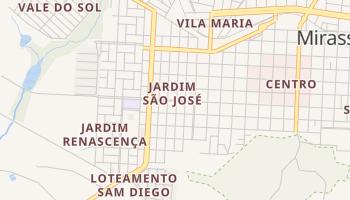 Mapa online de Mirassol para viajantes