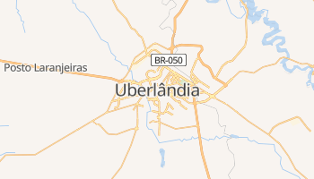 Mapa online de Uberlândia para viajantes