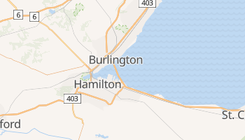 Mapa online de Hamilton para viajantes