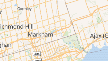 Mapa online de Markham para viajantes