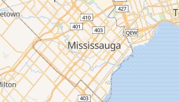 Mapa online de Mississauga para viajantes