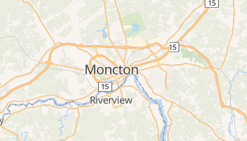 Mapa online de Moncton para viajantes