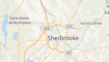 Mapa online de Sherbrooke para viajantes