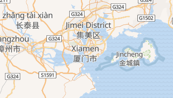 Mapa online de Xiamen para viajantes