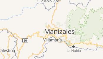 Mapa online de Manizales para viajantes