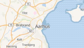 Mapa online de Århus para viajantes