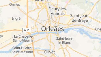 Mapa online de Orleães para viajantes