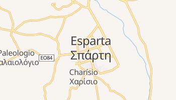 Mapa online de Esparta para viajantes