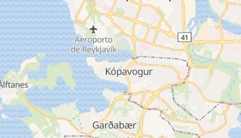 Mapa online de Kópavogur para viajantes