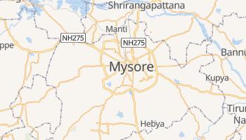Mapa online de Mysore para viajantes