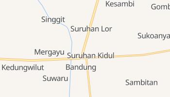Mapa online de Bandung para viajantes