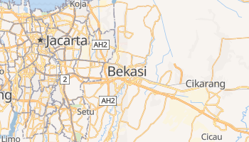 Mapa online de Bekasi para viajantes