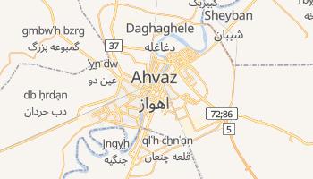 Mapa online de Ahvaz para viajantes