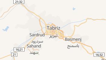 Mapa online de Tabriz para viajantes