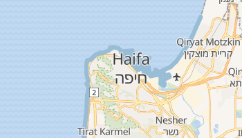Mapa online de Haifa para viajantes
