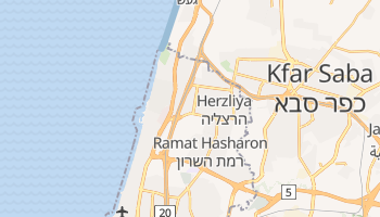 Mapa online de Herzliya para viajantes