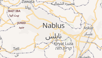 Mapa online de Nablus para viajantes