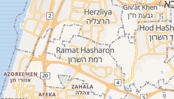 Mapa online de Ramat Hasharon para viajantes