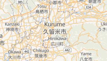 Mapa online de Kurume para viajantes