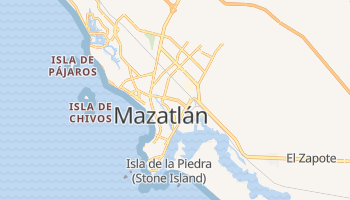 Mapa online de Mazatlán para viajantes