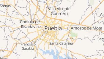 Mapa online de Puebla para viajantes