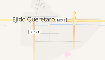 Mapa online de Querétaro para viajantes