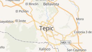 Mapa online de Tepic para viajantes