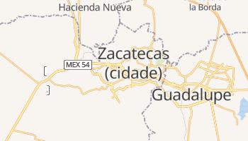 Mapa online de Zacatecas para viajantes