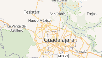 Mapa online de Zapopan para viajantes