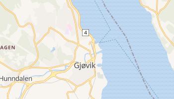 Mapa online de Gjøvik para viajantes