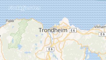 Mapa online de Trondheim para viajantes