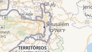 Mapa online de Jerusalém Oriental para viajantes