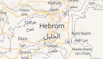 Mapa online de Hebron para viajantes