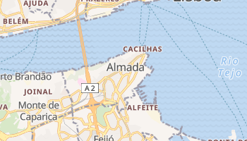 Mapa online de Almada para viajantes
