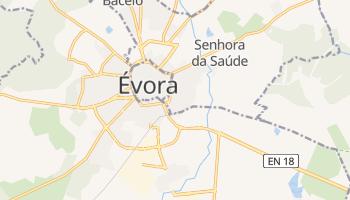 Mapa online de Évora para viajantes