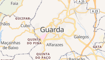 Mapa online de Guarda para viajantes