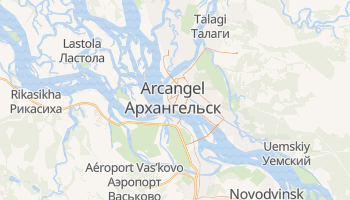 Mapa online de Arcangel para viajantes