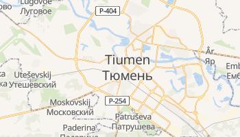 Mapa online de Tiumen para viajantes