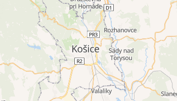Mapa online de Košice para viajantes