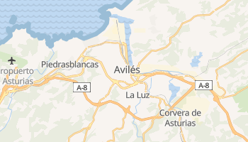 Mapa online de Avilés para viajantes
